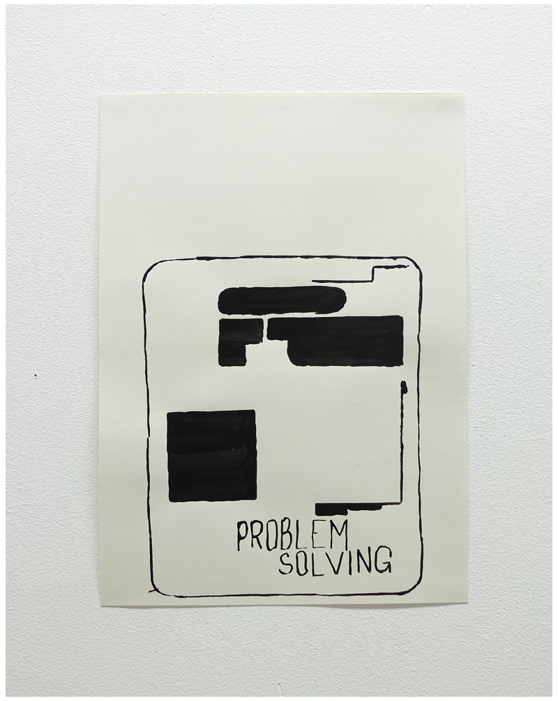 Lawrence Power, Problem Solving, 50,2 cm x 35,7 cm, ink on paper, 2017