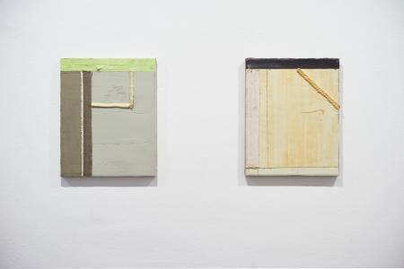''Ecke 18'' and ''Ecke 13'', Installation shot ''Plan View'', group show at Jahn und Jahn, Munich, 2017