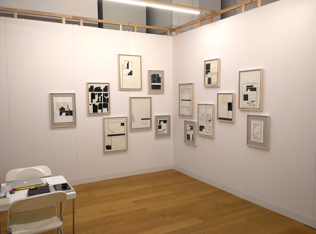 Lawrence Power, drawings, solo exhibition, Art on Paper Brüssels, 2017